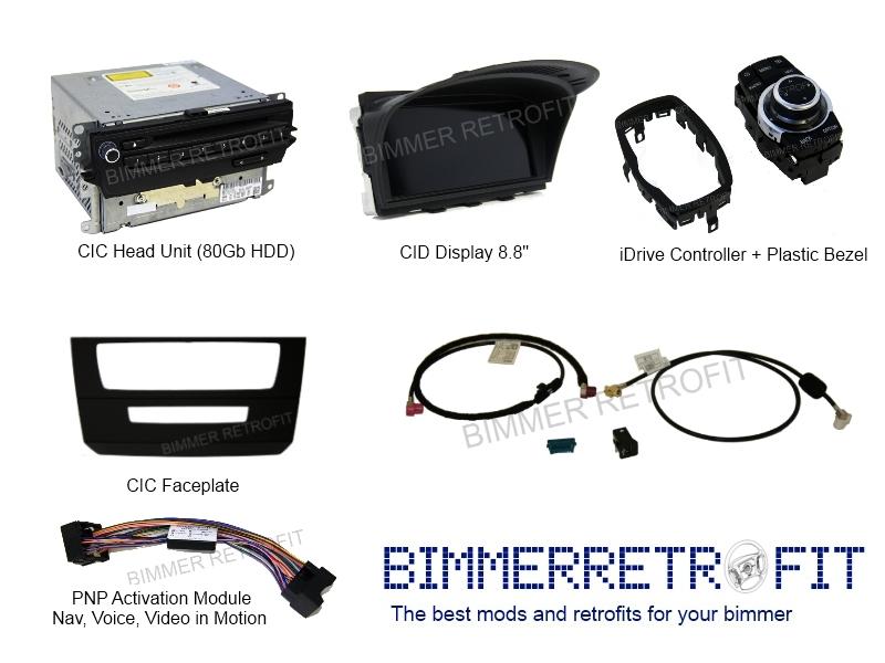 bimmer retrofit: cic retrofit kits for e-series and f-series, Wiring diagram